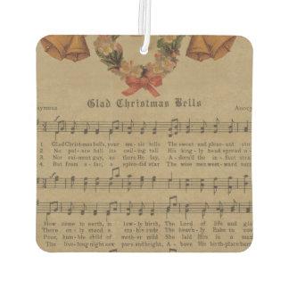 Vintages Weihnachtscarol-Musik-Blatt Autolufterfrischer