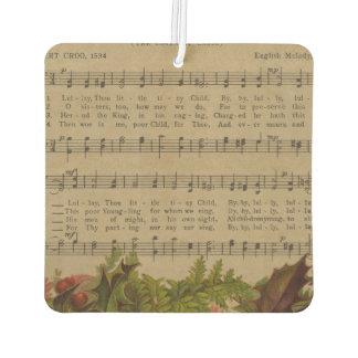 Vintages Weihnachtscarol-Musik-Blatt Lufterfrischer