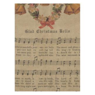 Vintages Weihnachtscarol-Musik-Blatt Tischdecke
