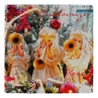 Vintages Weihnachtsengelstrompeten Töpfeuntersetzer