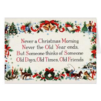 Vintages Weihnachtsgedicht Grußkarte