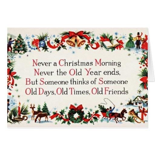 Vintages Weihnachtsgedicht Karten