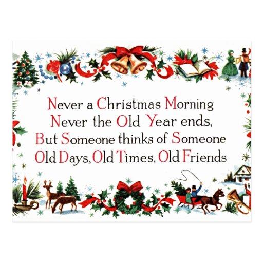 Vintages Weihnachtsgedicht Postkarten