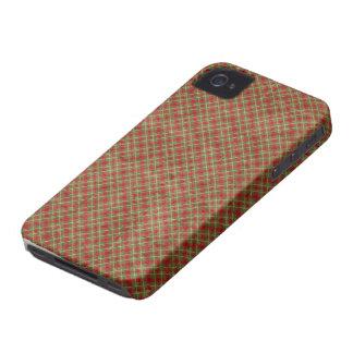 Vintages Weihnachtskariertes BlackBerry mutiges Case-Mate iPhone 4 Hülle
