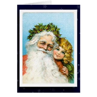Vintages Weihnachtsmann-Bild Karte
