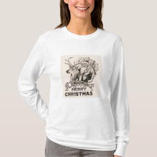 Vintages Weihnachtsmann-Ren-WeihnachtsShirt T-Shirt