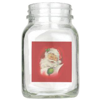 Vintages Weihnachtsmann-Weihnachten Einmachglas
