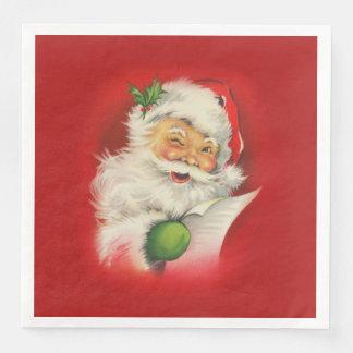 Vintages Weihnachtsmann-Weihnachten Servietten