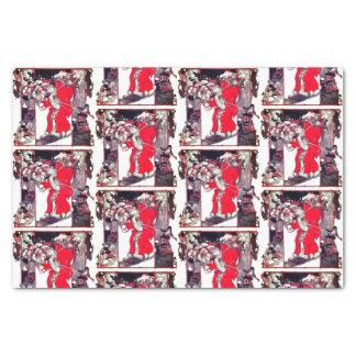 Vintages Weihnachtsmann-Weihnachtsseidenpapier Seidenpapier