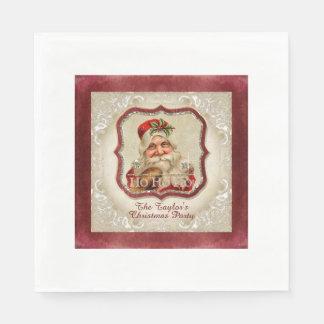 Vintages WeihnachtsmannHo Ho Ho Papierservietten