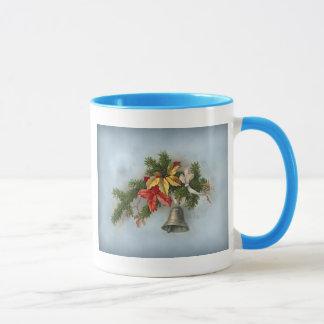 Vintages Weihnachtsmotiv mit Bell Tasse