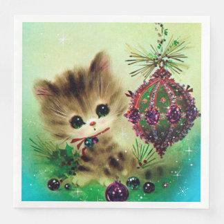 Vintages Weihnachtsretro Serviette
