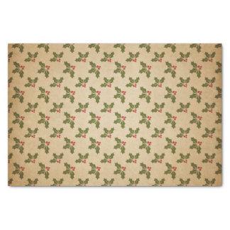 Vintages Weihnachtsstechpalmen-Muster Seidenpapier