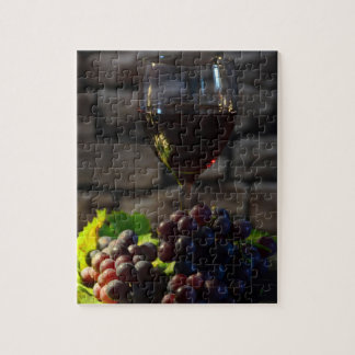 Vintages Wein-noch Leben Puzzle