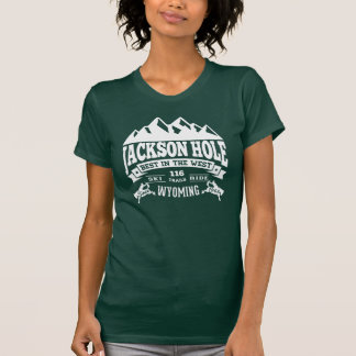 Vintages Weiß Jackson Hole T-Shirt