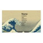 Vintages Wellen-Ozean-Seeboot Visitenkarten