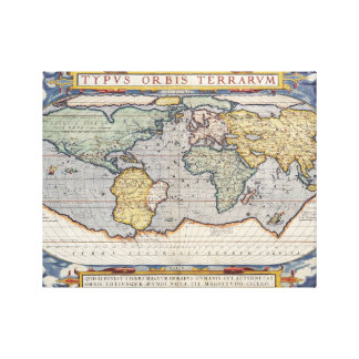 Vintages Weltkarten-Plakat Leinwanddruck