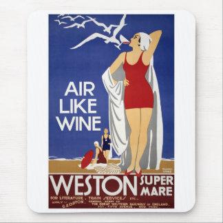 Vintages Weston Reise-Plakat Mauspads