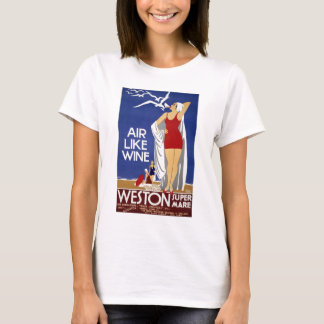 Vintages Weston Reise-Plakat T-Shirt