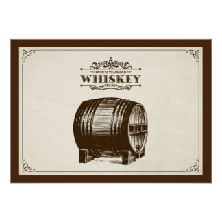 Vintages Whisky-Fass-Plakat Poster