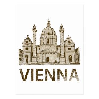 Vintages Wien Postkarte