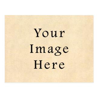 Vintages Wildleder-beige Postkarte