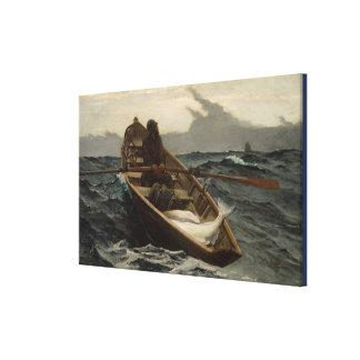 Vintages Winslow Homer Heilbutt-Fischen Leinwanddruck