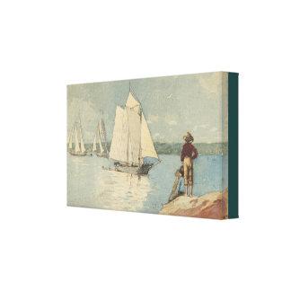 Vintages Winslow Homer klares Segeln Leinwanddruck