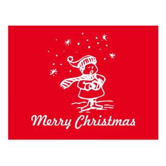 Vintages Winter-Märchenland-Weihnachten Carol Postkarte