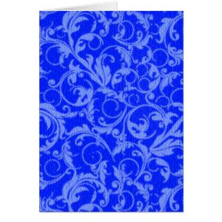 Vintages Wirbels-Saphir-Blau Karte