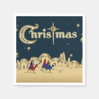 Vintages Wisemen/Wüsten-religiöses Weihnachten Serviette