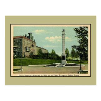 Vintages Wolfes Monument Quebec Kanada Postkarte