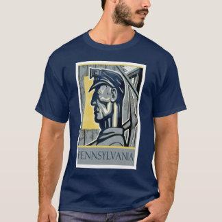 Vintages WPA Pennsylvania Bergmann-T-Shirt T-Shirt