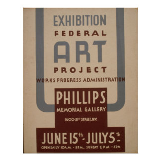 Vintages WPA Plakat der
