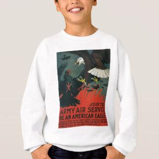 Vintages WWI Plakat des Armee-Fluglinienverkehr- Sweatshirt
