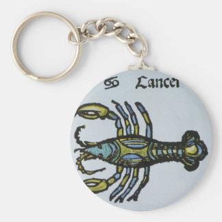Vintages Zeichen des Tierkreises, Krebs die Krabbe Schlüsselanhänger
