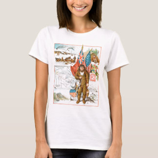 Vintages Zeichnen: Kanadische Collage T-Shirt