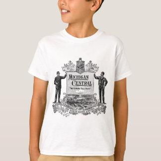 VINTAGES ZENTRALES EISENBAHN-LOGO MICHIGANS T-Shirt