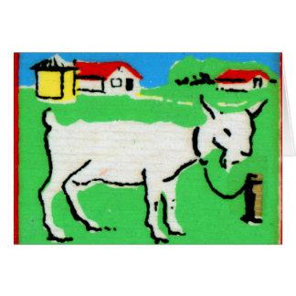 Vintages Ziegen-Rechtschreibungs-Alphabet G ist Karte