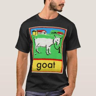 Vintages Ziegen-Rechtschreibungs-Alphabet G ist T-Shirt