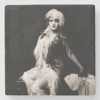 Vintages Ziegfeld Mädchen Steinuntersetzer