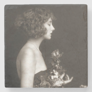 Vintages Ziegfeld Unsinnigkeits-Mädchen Steinuntersetzer