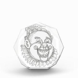 Vintages Zirkus-Clown-Kopf-Gekritzel Auszeichnung
