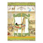Vintages Zirkus-Plakat, Giraffen-Geburtstags-Party Individuelle Einladung