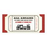 Vintages Zug-Karten-Geburtstags-Party 10,2 X 23,5 Cm Einladungskarte