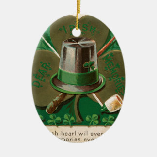 VintageSaint Patrick TagesKleeblatt erin gehen Keramik Ornament
