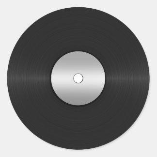 Vinyl-Blick LP-Aufzeichnung Runder Aufkleber