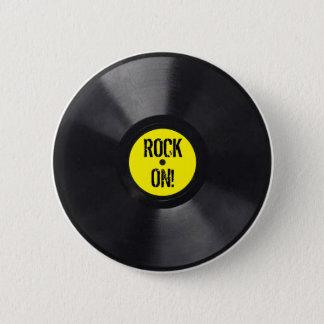 Vinyl Platte Runder Button 5,1 Cm