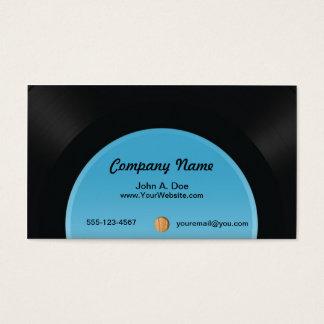Vinyl Platte Visitenkarte
