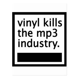 Vinyl tötet die Vintage Industrie mp3 - Postkarte